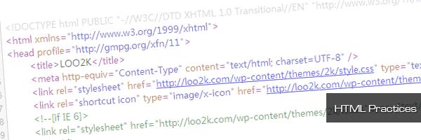 HTML Practices