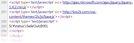 把 JavaScript 文件放在 </body> 前
